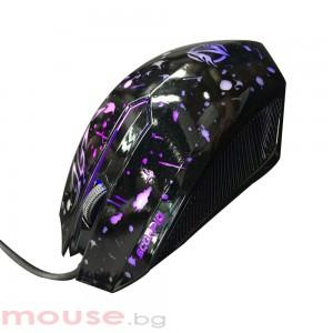 Геймърска мишка, ZornWee Walker, Оптична, Черен