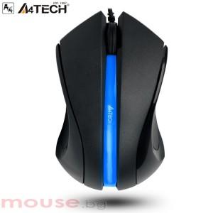 Мишка A4 TECH N-312 Жична, със скрол ,USB, 1000 dpi черна
