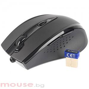 A4 Tech безжична V-Track PADLESS мишка G10 -770FL, черна с лазерна показалка ,USB, нано рисивър