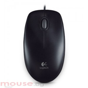 Мишка Logitech optical mouse Оптична мишка B100  USB, 3 but, Черна