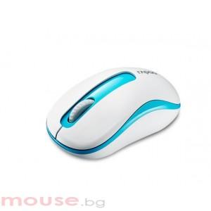 Безжична оптична мишка RAPOO M10 Plus 2.4Ghz Син/Бял