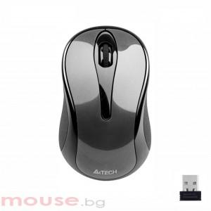 Безжична мишка A4Tech G3-280A, V-Track PADLESS, сива, USB