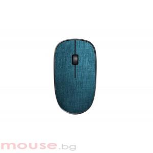 Безжична оптична мишка RAPOO 3510 Plus,синя, с покритие от плат