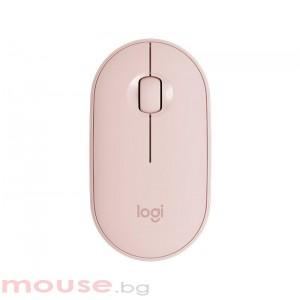 Безжична оптична мишка LOGITECH Pebble M350, Розов, USB