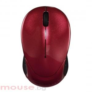 Безжична мини оптична мишка HAMA Pesaro 2.4 USB 1200 dpi Червен