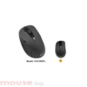 Мишка A4Tech G10 -660FL V-Track PADLESS, черна, USB