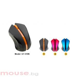 Мишка A4Tech G7-310N-1 V-Track PADLESS, черно с оранжево, USB