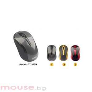 Безжична V-Track PADLESS мишка A4TECH G7-360N-1, USB, черна