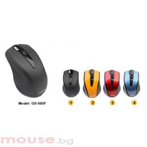 Мишка A4Tech G9 -500F-2 V-Track PADLESS, жълта, USB