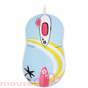 Мишка G-CUBE оптична мини Aloha splash , USB