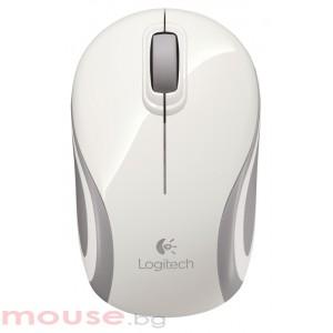 Мишка Logitech Wireless Mini Mouse M187 безжична бяла