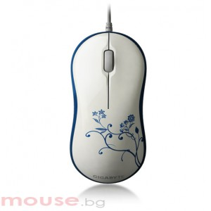 Оптична мишка Gigabyte M5050S- бяла с мотив , USB