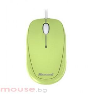 Мишка MICROSOFT Compact Optical Mouse 500 (Кабел, Оптичен 800dpi,3 btn,USB), Зелен