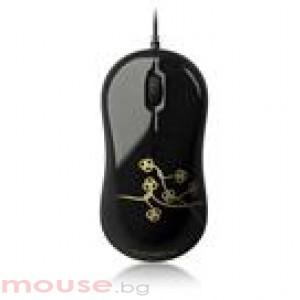 Мишка Gigabyte M5050S черна с мотиви, USB