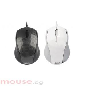 Мишка A4Tech N-100-1 V-Track PADLESS, черна, USB