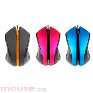Мишка A4Tech N-310-2 V-Track PADLESS, розова, USB