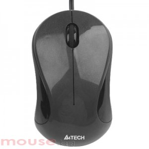 A4tech N-321-1 V-Track PADLESS Жична мишка, карбонено-черна