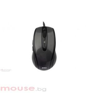 Мишка A4 TECH N-708X V-Track PADLESS Жична мишка,черна