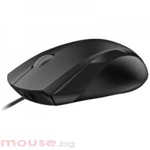 Мишка RAPOO N1200 жична оптична, USB, Черна