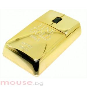 Мишка SATZUMA GOLD BAR /имитация на кюлче злато/ USB