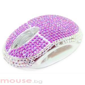 Мишка SATZUMA  диамант /лилава/, USB