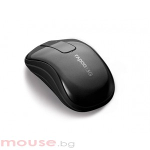RAPOO T120P Безжична тъч мишка, черна