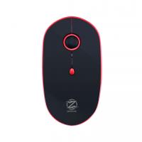 Мишка, ZornWee W880, Презареждаема, Безжична, Черен/Червен