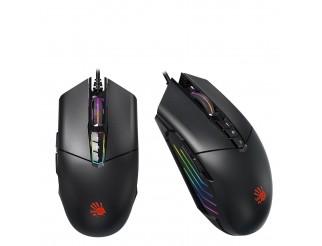 Геймърска мишка Bloody P91 Light strike, 5K RGB, Оптична, Кабел, Черен