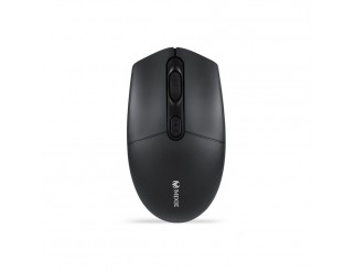 Мишка Mixie R520S, Безжична, Тиха, USB, 4D, Черен