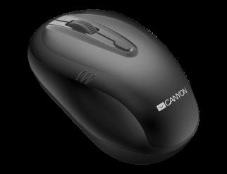 Мишка CANYON Безжичен, Оптичен, 1600dpi Black