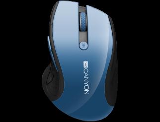 Мишка CANYON Безжичен, Оптичен, 1600dpi Blue Gray pearl glossy
