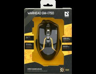 Мишка DEFENDER Warhead GM-1750 оптична жична геймърска