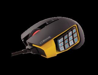 Мишка CORSAIR Gaming Scimitar Pro RGB, 16 000 DPI, USB, Black&Yellow