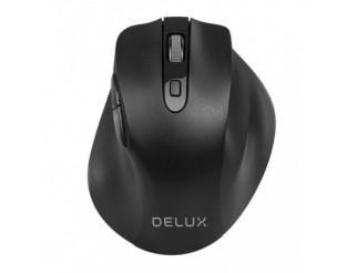 Мишка DELUX Безжичен, Оптичен, 1600dpi